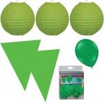 Party Raumdeko Garten Set XXL grün