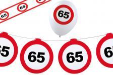 Dekoset Geburtstag Party 65 Jahre Verkehrsschild