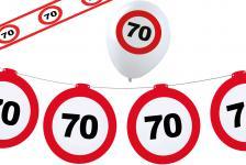 Dekoset Geburtstag Party 70 Jahre Verkehrsschild