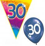 Set Geburtstag Luftballons und Girlanden 30 Jahre