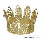 Karneval Klamotten Kostüm Krönchen Prinzessin gold Zubehör Märchen Karneval