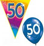 Set Geburtstag Luftballons und Girlanden 50 Jahre