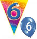 Set Kindergeburtstag Luftballons und Girlanden 6 Jahr