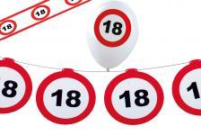 Dekoset Geburtstag Party 18 Jahre Verkehrsschild