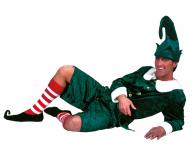 Karneval Klamotten Kostüm Weihnachtself Mann Herr Kostüm Karneval Weihnachten