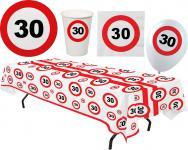 Party Set XL 45 Teile Geburtstag 30 Jahre Verkehrsschild