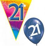Set Geburtstag Luftballons und Girlanden 21 Jahre
