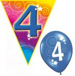 Set Kindergeburtstag Luftballons und Girlanden 4 Jahr