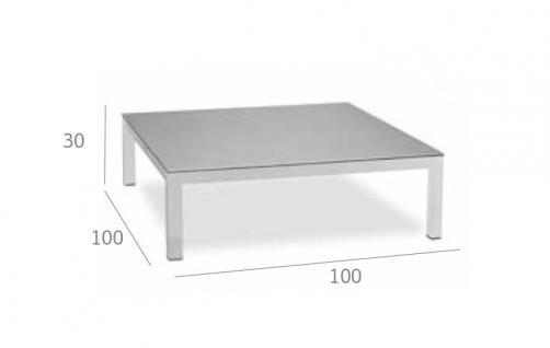 Expormim Loungetisch 100 cm mit einer Keramik- oder HPL-Tischplatte