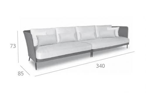 Expormim Käbu Loungesofa 340 cm • 3D Mesh Bespannung
