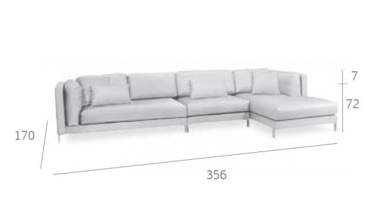 Expormim Slim Loungesofa 356 cm