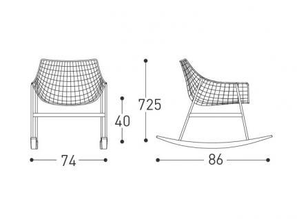 Varaschin Summer Set Schaukelstuhl exkl. Sitz- und Rückenkissen • Loungesessel 74 cm - Vorschau 2