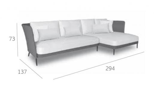 Expormim Käbu Loungesofa 294 cm • Batyline Senso®