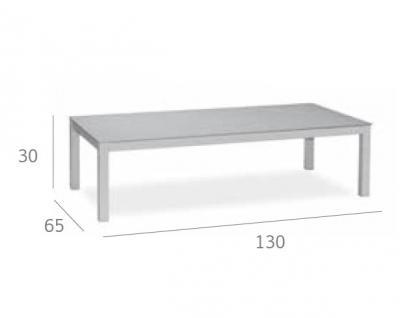 Expormim Loungetisch 130 cm mit einer Keramik- oder HPL-Tischplatte