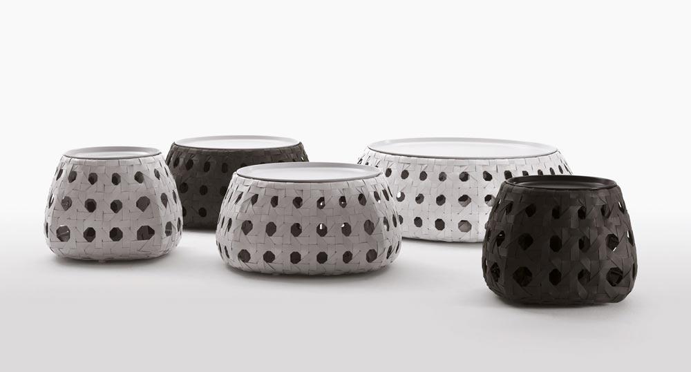 b b italia canasta outdoor beistelltisch oder loungetisch. Black Bedroom Furniture Sets. Home Design Ideas