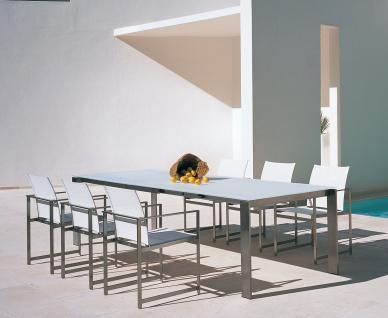 esstisch edelstahl ausziehbar g nstig online kaufen yatego. Black Bedroom Furniture Sets. Home Design Ideas