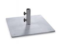 Weishäupl Bodenplatte aus Stahl, quadratisch, 70 kg