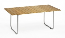 Esstisch Prato mit HPL- oder Teak-Tischplatte (verschiedene Größen) von Weishäupl