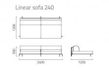 Coro Sabal Loungesofa Mittelmodul 240 cm