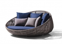 B&B Italia Canasta '13 Outdoor Sofainsel mit Rollen 180 cm