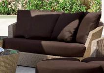 Sofa Eden Roc 2-sitzig mit einfachen Kissen von Rausch