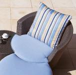 Sessel Eden Roc mit einfachem Kissen von Rausch