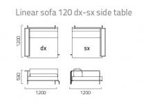Coro Sabal Loungesofa dx-sx Modul mit einer Tischablage 120 cm