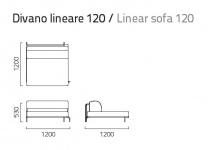 Coro Sabal Loungesofa Modul 120 cm