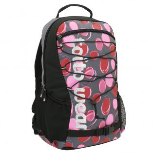 Rucksack Dotty Schulrucksack Sportrucksack Freizeitrucksack Multifunktionsrucksack Schulranzen Damen Mädchen Schüler schwarz pink Rucksack