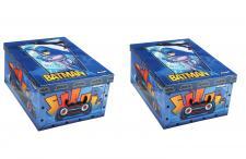 Ordnungsboxen 2er SET Deko Karton Clip Motiv Batman Aufbewahrungsbox für Haushalt Büro Wäsche Geschenkbox Dekokarton Sammelbox Mehrzweckbox Ordnungskarton Ordnungsbox Geschenkekarton