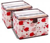 Einschubboxen 2er SET für Schrankeinhänger Rosen breit Aufbewahrungsbox
