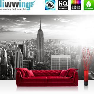 liwwing Vlies Fototapete 200x140 cm PREMIUM PLUS Wand Foto Tapete Wand Bild Vliestapete - MANHATTAN SKYLINE - New York City USA Amerika Empire State Building Big Apple - no. 015