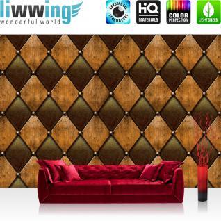 liwwing Vlies Fototapete 312x219cm PREMIUM PLUS Wand Foto Tapete Wand Bild Vliestapete - Kunst Tapete Abstrakt Design Modern Lederoptik Wand braun - no. 1528