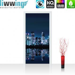 liwwing Vlies Türtapete 91x211 cm PREMIUM PLUS Tür Fototapete Türposter Türpanel Foto Tapete Bild - Toronto Skyline Night - no. 280