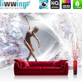 liwwing Vlies Fototapete 416x254cm PREMIUM PLUS Wand Foto Tapete Wand Bild Vliestapete - Sport Tapete Frau Tanzen Ballett Keramik Elemente natural - no. 2518