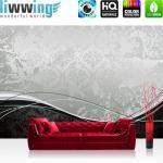 liwwing Vlies Fototapete 300x210 cm PREMIUM PLUS Wand Foto Tapete Wand Bild Vliestapete - BAROQUE ORNAMENTS - Ornamente Schwung Schnörkel Barock Antik Ornament Design - no. 003