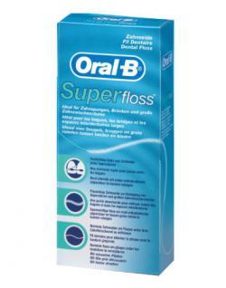 Oral-B SuperFloss 50 Fäden, 4er Pack (4 x 50 Fäden)