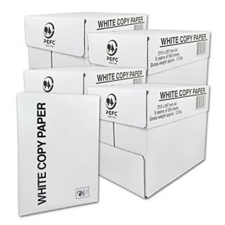 10000 Blatt Druck- und Kopierpapier DIN A4 80g/m² COPY PAPER Kopierpapier, Druckerpapier, Universalpapier, Papier 20 x 500 Blatt weiß Laserpapier & Fax versando