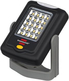Brennenstuhl LED Arbeitslampe / flexible LED-Universalleuchte in praktischem Taschenformat (360° drehbar, vielseitig einsetzbar) Farbe: schwarz