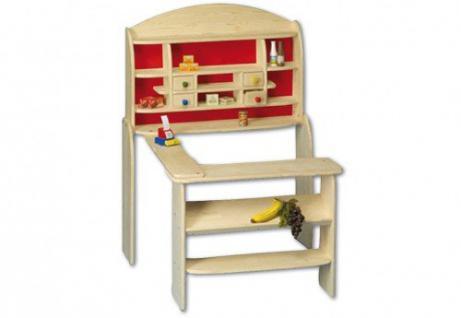 Beluga Spielwaren 30830 - Kaufladen aus Holz Maß?e: 115 x 75 x 84 cm natur / rot