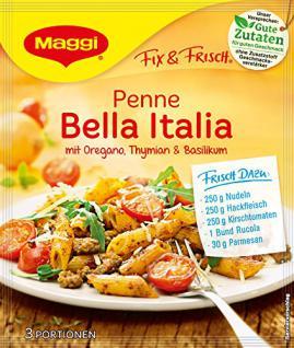 Maggi fix & frisch, Penne Bella Italia, 27 g Beutel, ergibt 3 Portionen