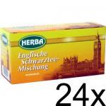Herba Englische Schwarztee-Mischung (24 x 20 x 1, 5g) 24er Pack
