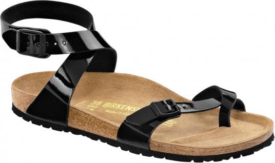 Birkenstock Zehensteg Sandale Yara BF Lack schwarz Gr. 35 - 43 013923