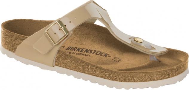 Birkenstock Zehensteg Sandale Gizeh NL WB metallic silver Gr. 35 43 1003674