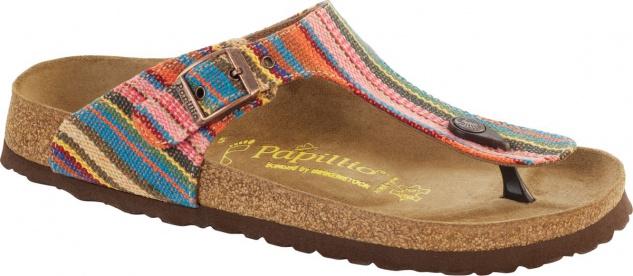 Papillio Zehensteg Sandale Gizeh Textil bohemian stripes pink - Gr. 35 - 43 - 304801