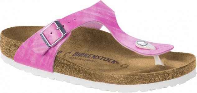 Birkenstock Gizeh Zehensteg Sandale shiny check rose BF Gr. 35 - 43 - 1005346