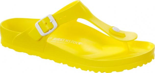 Birkenstock Pantolette Badeschuh Gizeh neon yellow EVA Gr. 35 - 41 128351
