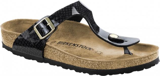 Birkenstock Gizeh Zehensteg Sandale magic snake black Gr. 35 - 43 - 1009113