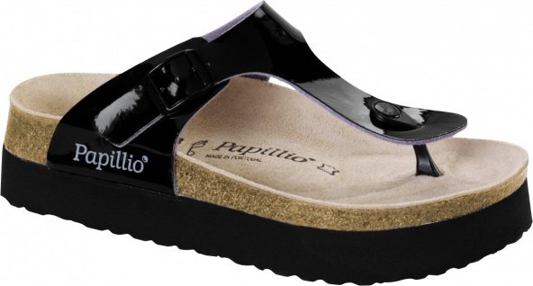 Papillio Zehensteg Sandale Gizeh BF two tone patent black plattform - 1007092 - Vorschau