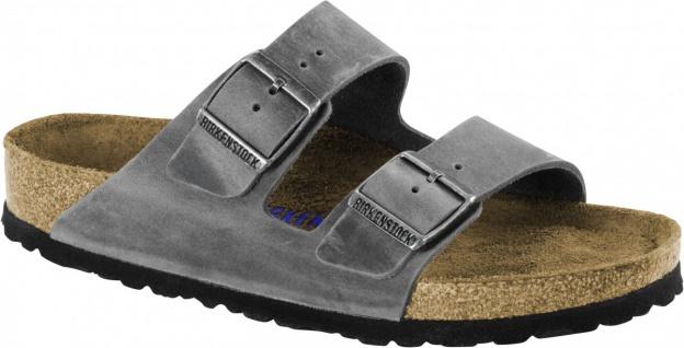 Birkenstock Pantolette Arizona FL WB Iron Gr. 35 - 46 - 552801 - Vorschau